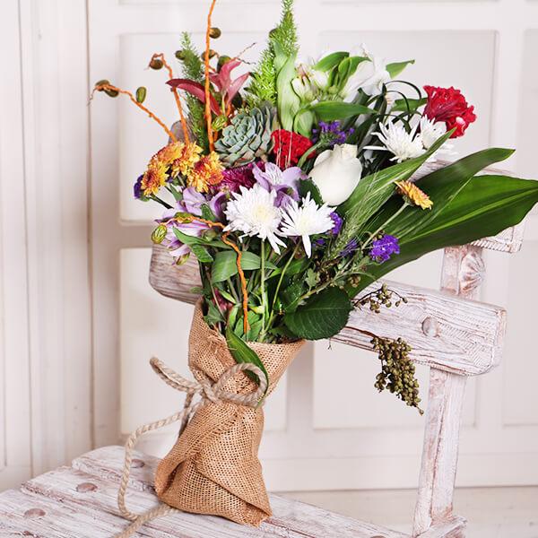 دسته گل هدیه تولد | دسته گل اروپایی گلبیشه EGBW1 - گل ...