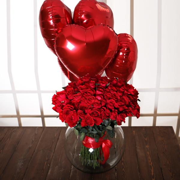 خرید دسته گل رز قرمز